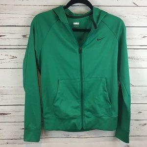Green Lightweight Nike Zip Up Hoodie